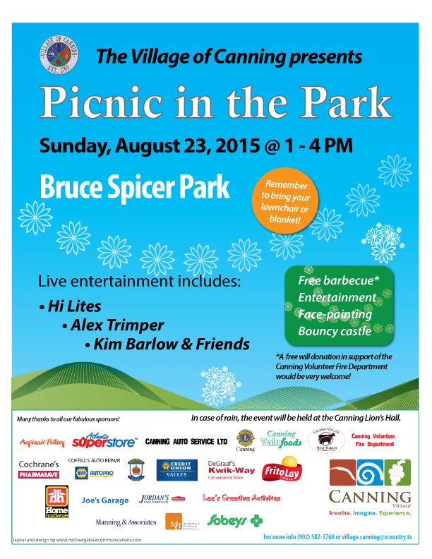 Village of Canning Picnic in the Park 2015