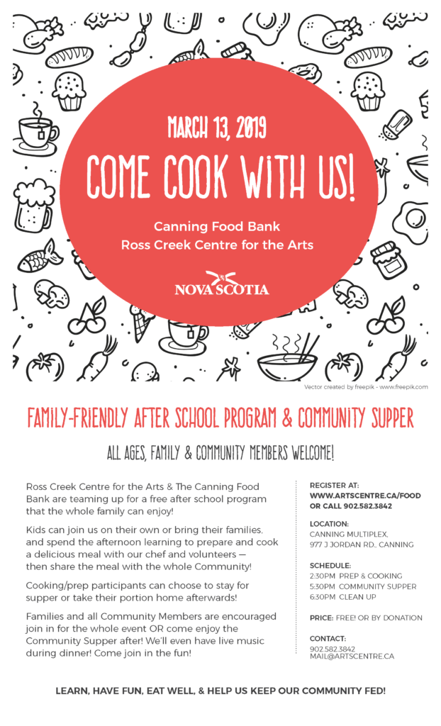 Come Cook With Us Ross Creek event poster